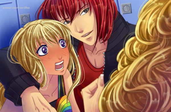 Sucrette : Cheveux long,blond,yeux violet. (Que les illustrations avec une sucrette.)