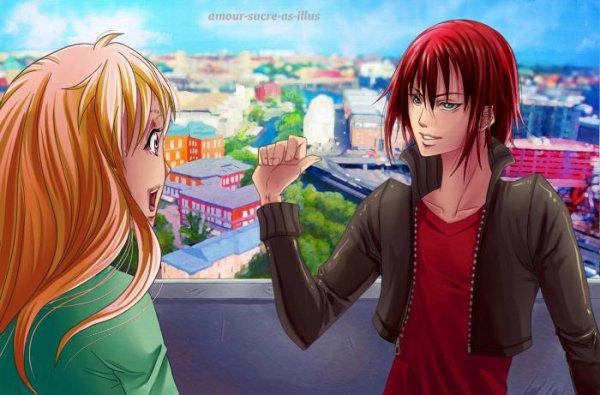 Sucrette : Cheveux long,roux,yeux rose. (Que les illustrations avec une sucrette.)