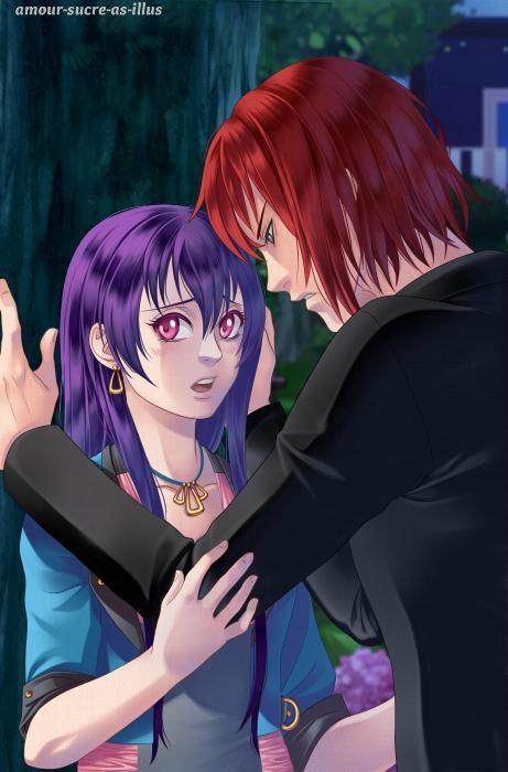 Sucrette : Cheveux long,violet,yeux rose. (Que les illustrations avec une sucrette.)