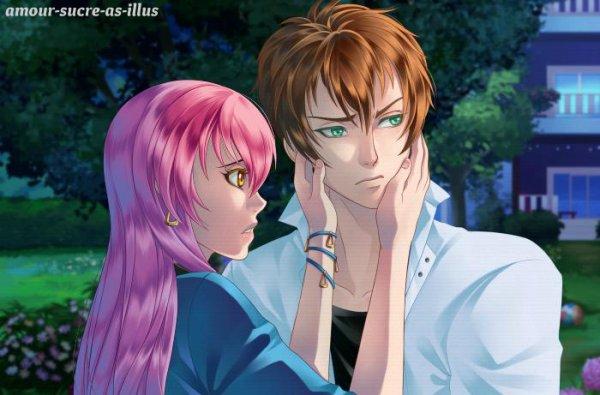 Sucrette : Cheveux longs,rose,yeux jaune. (Que les illustrations avec une sucrette.)