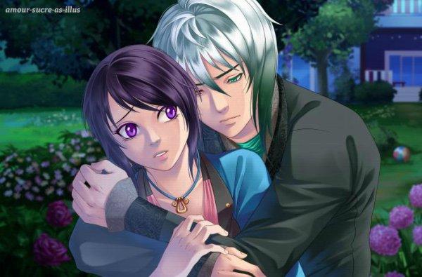 Sucrette : Cheveux court,noir,yeux violet. (Que les illustrations avec une sucrette.)