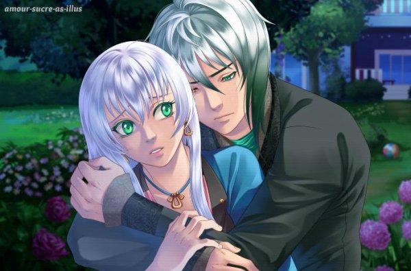 Sucrette : Cheveux longs,blanc,yeux vert. (Que les illustrations avec une sucrette.)
