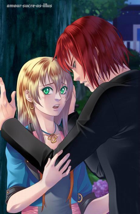 Sucrette : Cheveux longs,blond,yeux vert. (Que les illustrations avec une sucrette.)