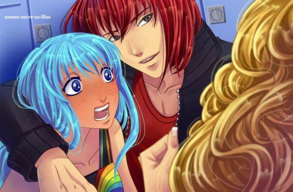 Sucrette : Cheveux long,bleu clair,yeux bleu. (Que les illustrations avec une sucrette.)