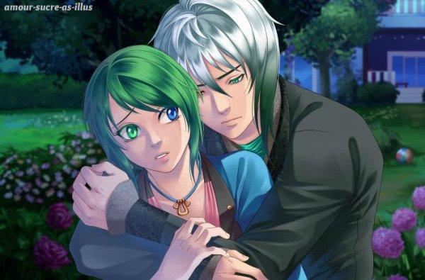 Sucrette : Cheveux court,vert,yeux bleu/vert. (Que les illustrations avec une sucrette.)