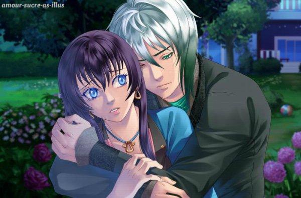 Sucrette : Cheveux longs,noir,yeux bleu clair. (Que les illustrations avec une sucrette.)