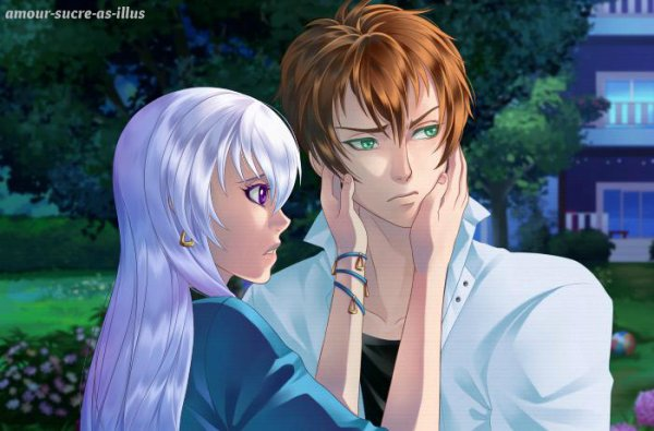 Sucrette : Cheveux longs,blanc,yeux violet. (Que les illustrations avec une sucrette.)