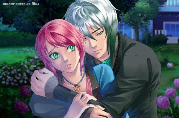 Sucrette : Cheveux court,rose,yeux vert. (Que les illustrations avec une sucrette.)