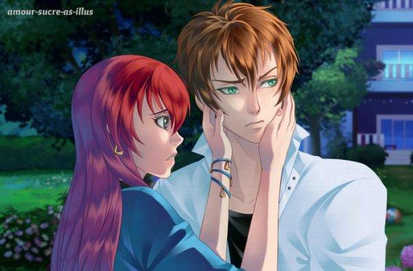Sucrette : Cheveux long,rouge,yeux gris. (Que les illustrations avec une sucrette.)