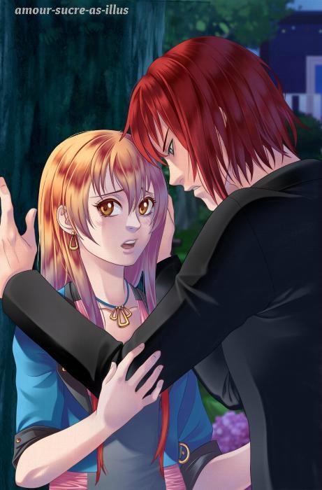 Sucrette : Cheveux long,roux,yeux marron. (Que les illustrations avec une sucrette.)