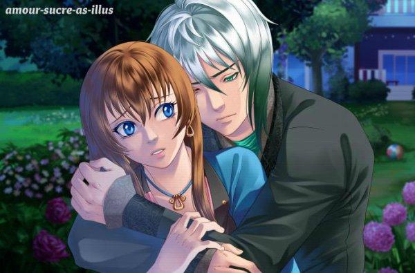 Sucrette : Cheveux longs,marron,yeux bleu. (Que les illustrations avec une sucrette.)