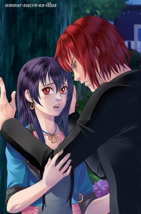 Sucrette : Cheveux long,noir,yeux rouge. (Que les illustrations avec une sucrette.)