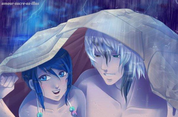Sucrette : Cheveux court,bleu,yeux bleu. (Que les illustrations avec une sucrette.)