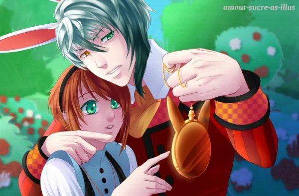 Sucrette : Cheveux court,roux,yeux vert. (Que les illustrations avec une sucrette.).