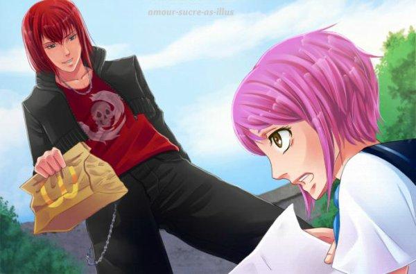 Sucrette : Cheveux court,rose,yeux marron. (Que les illustrations avec une sucrette.)