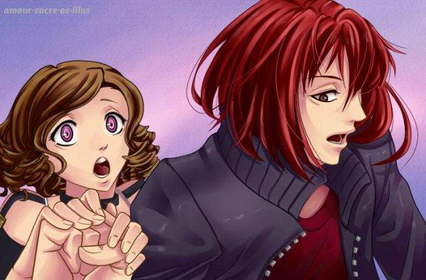 Sucrette : Cheveux bouclée,brun,yeux rose. (Que les illustrations avec une sucrette.).