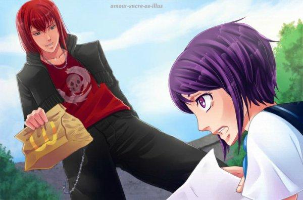 Sucrette : Cheveux court,violet,yeux rose. (Que les illustrations avec une sucrette.).