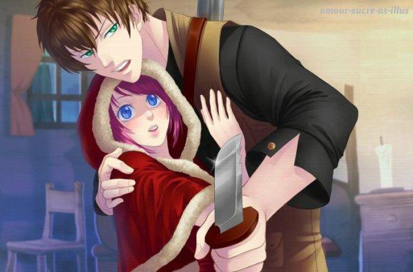 Sucrette : Cheveux court,rose,yeux bleu clair. (Que les illustrations avec une sucrette.)