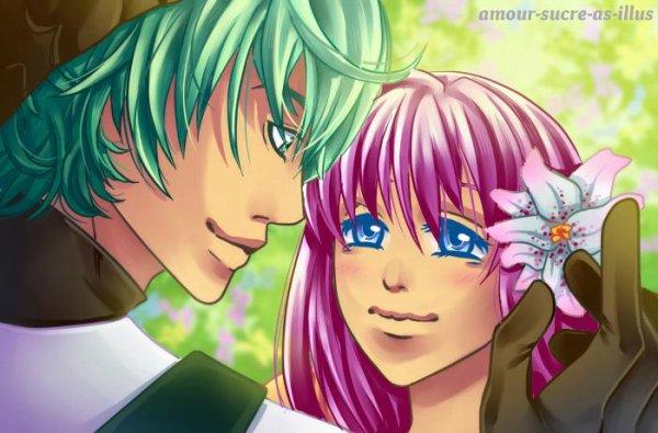 Sucrette : Cheveux longs,rose,yeux bleu clair. (Que les illustrations avec une sucrette.)