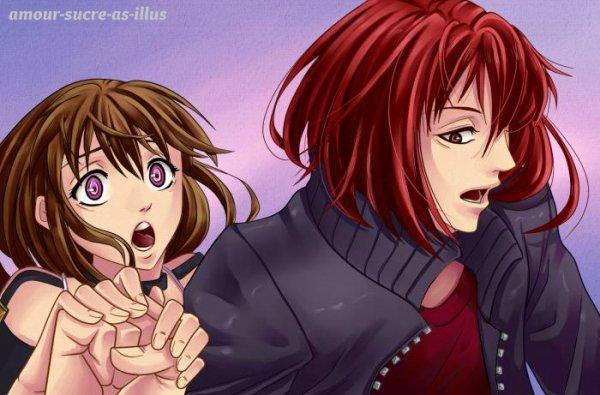 Sucrette : Cheveux longs,marron,yeux rose. (Que les illustrations avec une sucrette.)