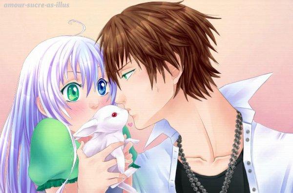 Sucrette : Cheveux long,blanc,yeux bleu/vert. (Que les illustrations avec une sucrette.).