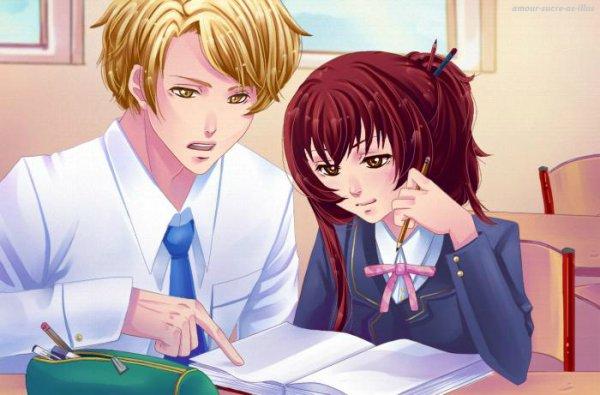 Sucrette : Cheveux long,rouge,yeux marron. (Que les illustrations avec une sucrette.)