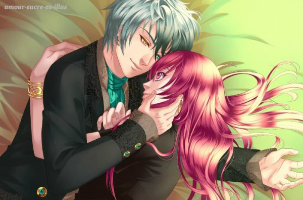 Sucrette : Cheveux longs,rose,yeux rose. (Que les illustrations avec une sucrette.)