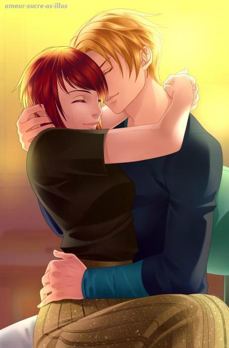 Sucrette : Cheveux court,rouge,yeux jaune/rose. (Que les illustrations avec une sucrette.)