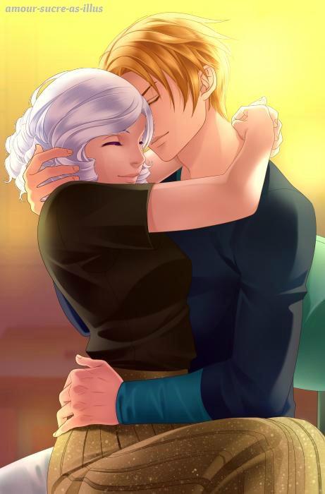 Sucrette : Cheveux bouclée,blanc,yeux violet. (Que les illustrations avec une sucrette.)