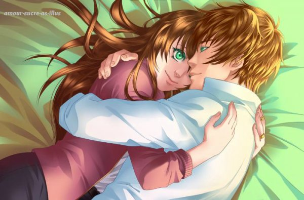 Sucrette : Cheveux longs,brun,yeux vert. (Que les illustrations avec une sucrette.)
