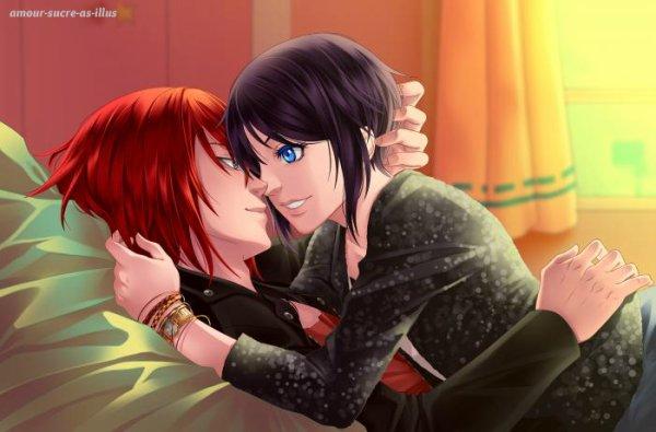 Sucrette : Cheveux court,noir,yeux bleu. (Que les illustrations avec une sucrette.)
