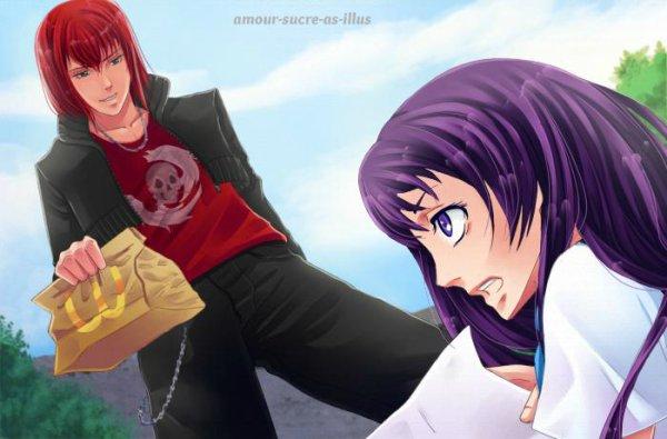 Sucrette : Cheveux long,violet,yeux violet. (Que les illustrations avec une sucrette.)