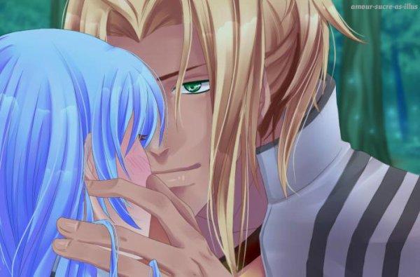 Sucrette : Cheveux long,bleu clair,yeux rose. (Que les illustrations avec une sucrette.)