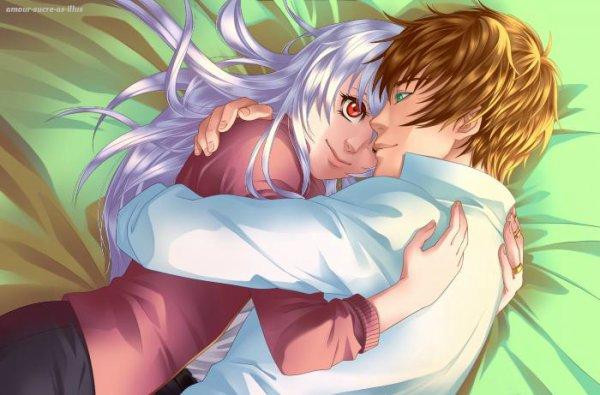 Sucrette : Cheveux longs,blanc,yeux rouge. (Que les illustrations avec une sucrette.)
