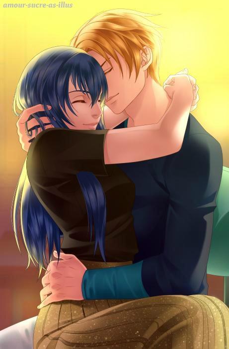 Sucrette : Cheveux longs,bleu,yeux marron. (Que les illustrations avec une sucrette.)