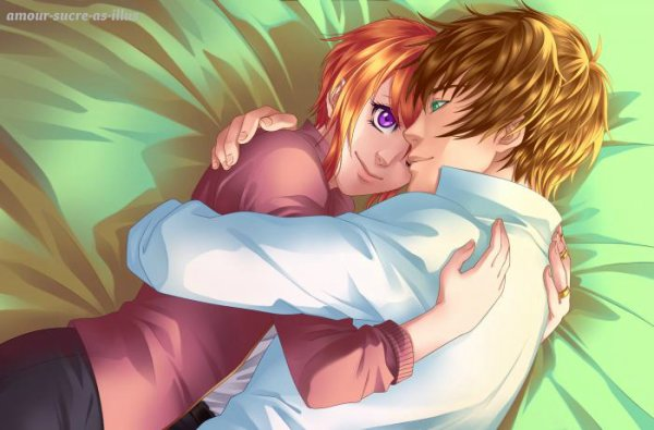 Sucrette : Cheveux court,roux,yeux violet. (Que les illustrations avec une sucrette.).