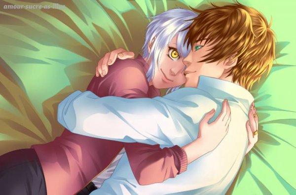 Sucrette : Cheveux court,blanc,yeux jaune. (Que les illustrations avec une sucrette.).