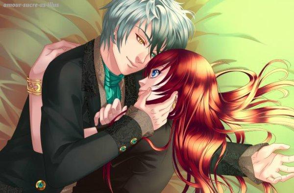 Sucrette : Cheveux longs,rouge,yeux bleu. (Que les illustrations avec une sucrette.)