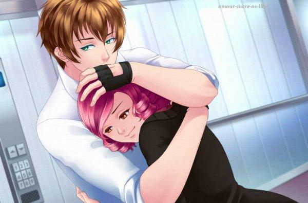 Sucrette : Cheveux bouclée,rose,yeux marrons. (Que les illustrations avec une sucrette.)