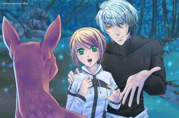 Sucrette : Cheveux court,blond,yeux vert. (Que les illustrations avec une sucrette.)