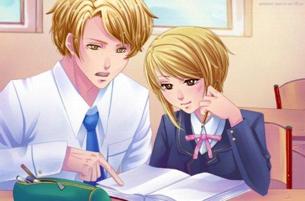 Sucrette : Cheveux court,blond,yeux marron. (Que les illustrations avec une sucrette.)