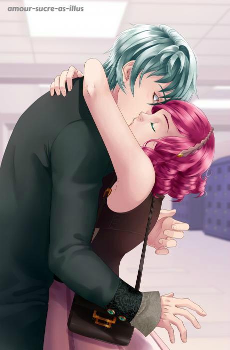 Sucrette : Cheveux bouclée,rose,yeux vert. (Que les illustrations avec une sucrette.)