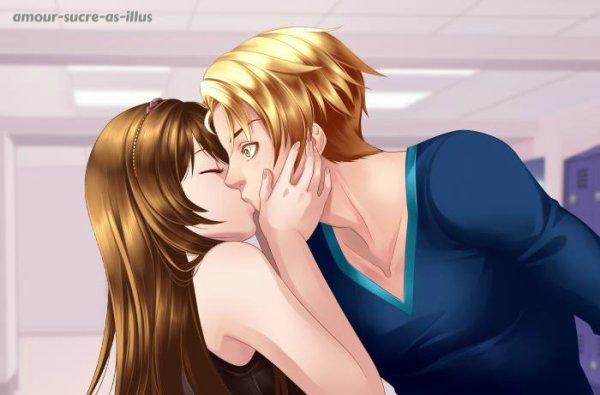 Sucrette : Cheveux longs,marron,yeux marron. (Que les illustrations avec une sucrette.)