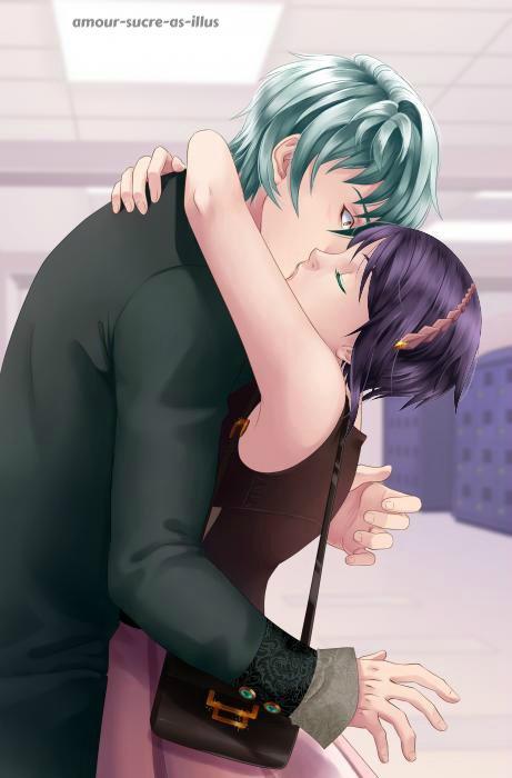 Sucrette : Cheveux court,noir,yeux vert. (Que les illustrations avec une sucrette.)