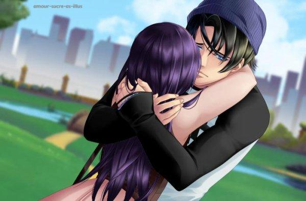 Sucrette : Cheveux longs,noir,yeux violet. (Que les illustrations avec une sucrette.)