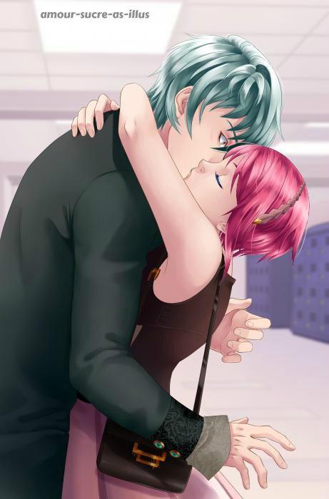 Sucrette : Cheveux court,rose,yeux bleu. (Que les illustrations avec une sucrette.)