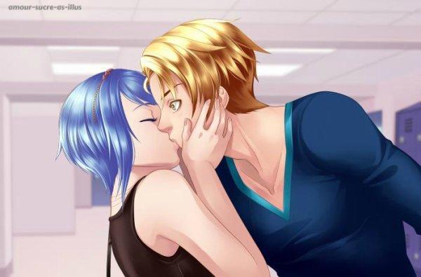 Sucrette : Cheveux court,bleu clair,yeux bleu. (Que les illustrations avec une sucrette.)