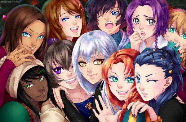 Sucrette : Cheveux longs,cendre,yeux violet. (Que les illustrations avec une sucrette.)
