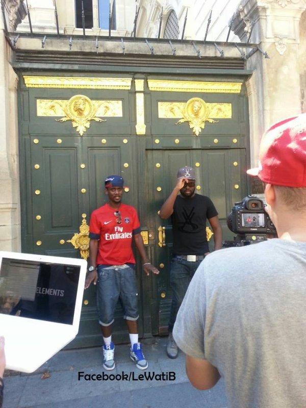 PHOTO EXCLU : Aujourd'hui Black M est en plein tournage d'un nouveau clip !