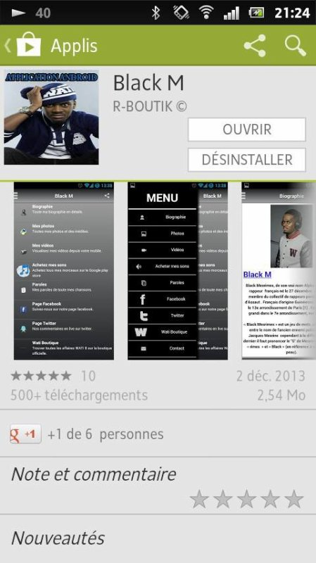 L'aplication Black M a télécharger !